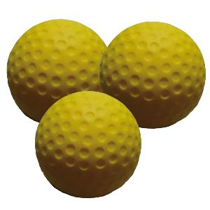 Lot de 3 balles de golf en mousse