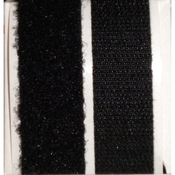 bo te de 10 m tres de bande adh sives velcro noir. Black Bedroom Furniture Sets. Home Design Ideas